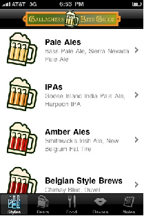 iPhone/iPad App Review: Ghallagher's Beer Guide | GiveMeApps