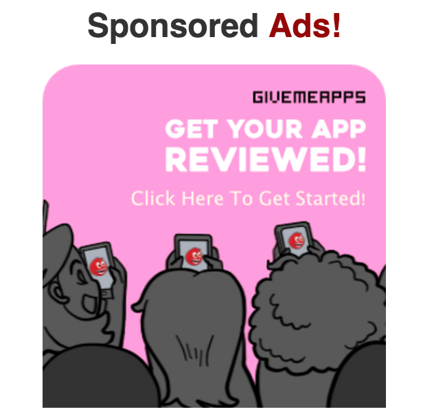 GiveMeApps Blog: Sponsored Ads | GiveMeApps