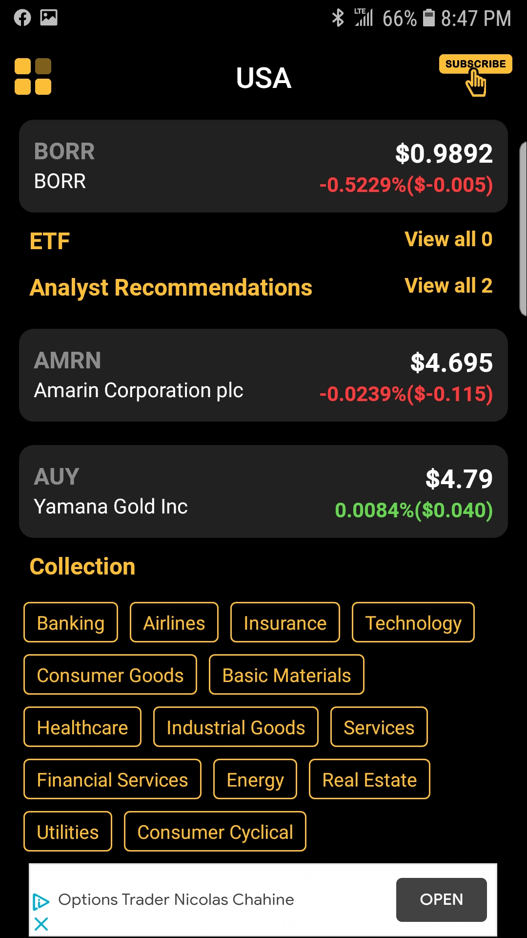 Penny Stocks Android App Review | Main Screen | GiveMeApps
